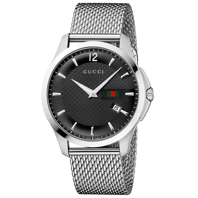 a1576dfd635 Gucci G-Timeless Stainless Steel Mesh Men s Watch – Allydayi.com